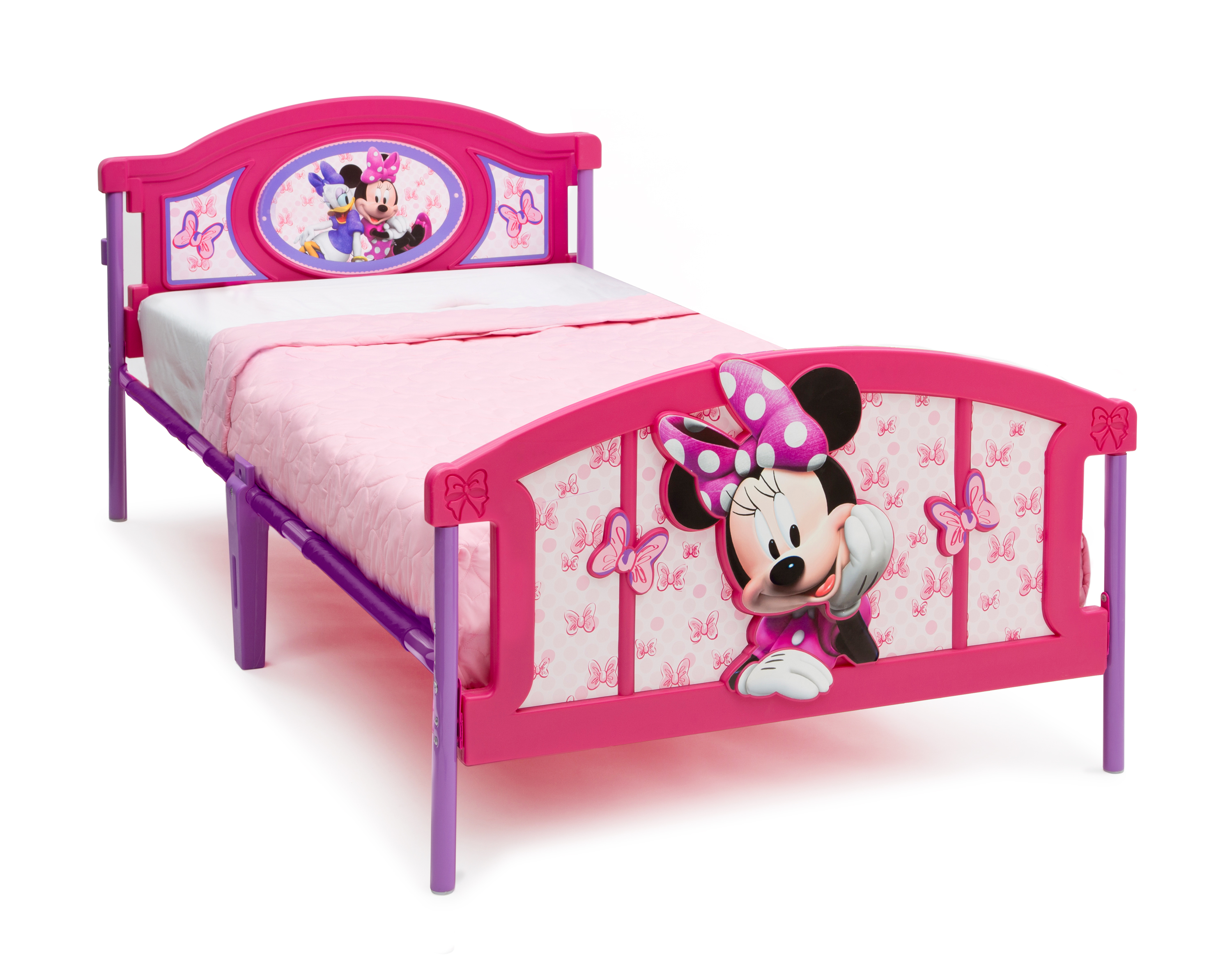 big mickey sofas sofa city evansville delta children minnie mouse plastic 3d twin bed baby