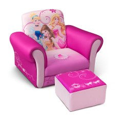 Princess Chairs For Toddlers Wooden Second Hand Delta Children Disney Upholstered Chair With Ottoman
