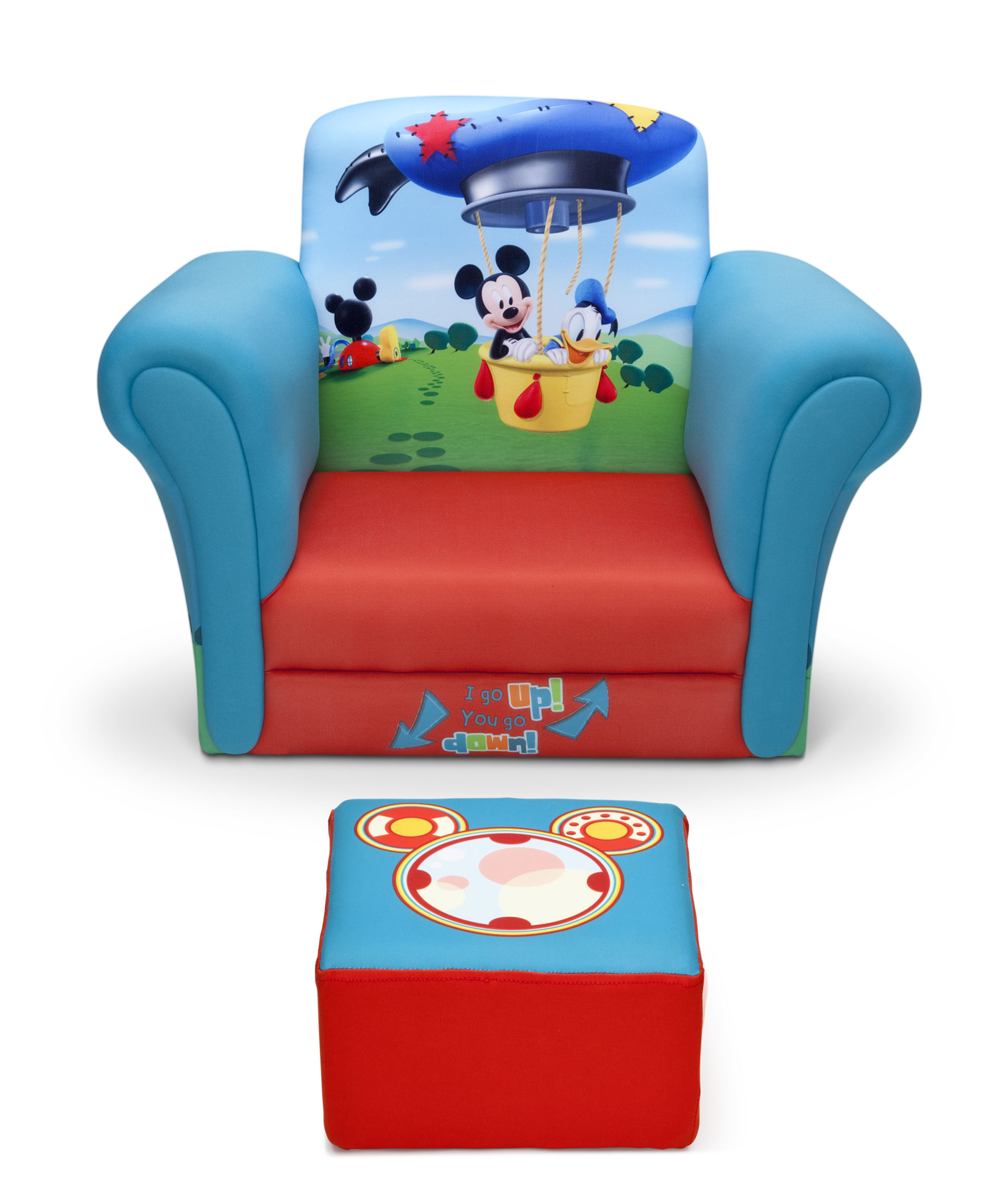 toddler chair and ottoman behind the one shot delta children mickey mouse upholstered with baby 1