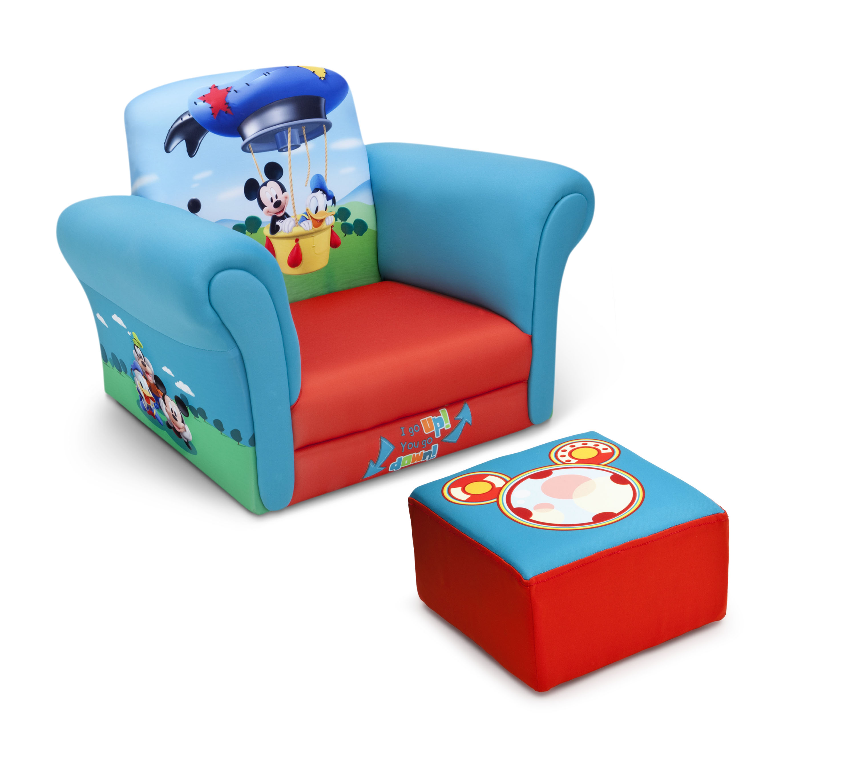 Mickey Mouse Chairs For Toddlers Delta Children Mickey Mouse Upholstered Chair With Ottoman Baby