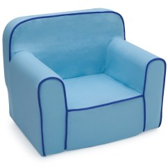 Kids Foam Chair Value City Furniture Dining Room Chairs Delta Children Snuggle Blue