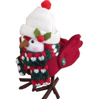 "Trim A Home 6"" White Hat Fabric Bird Dcor - Seasonal ..."
