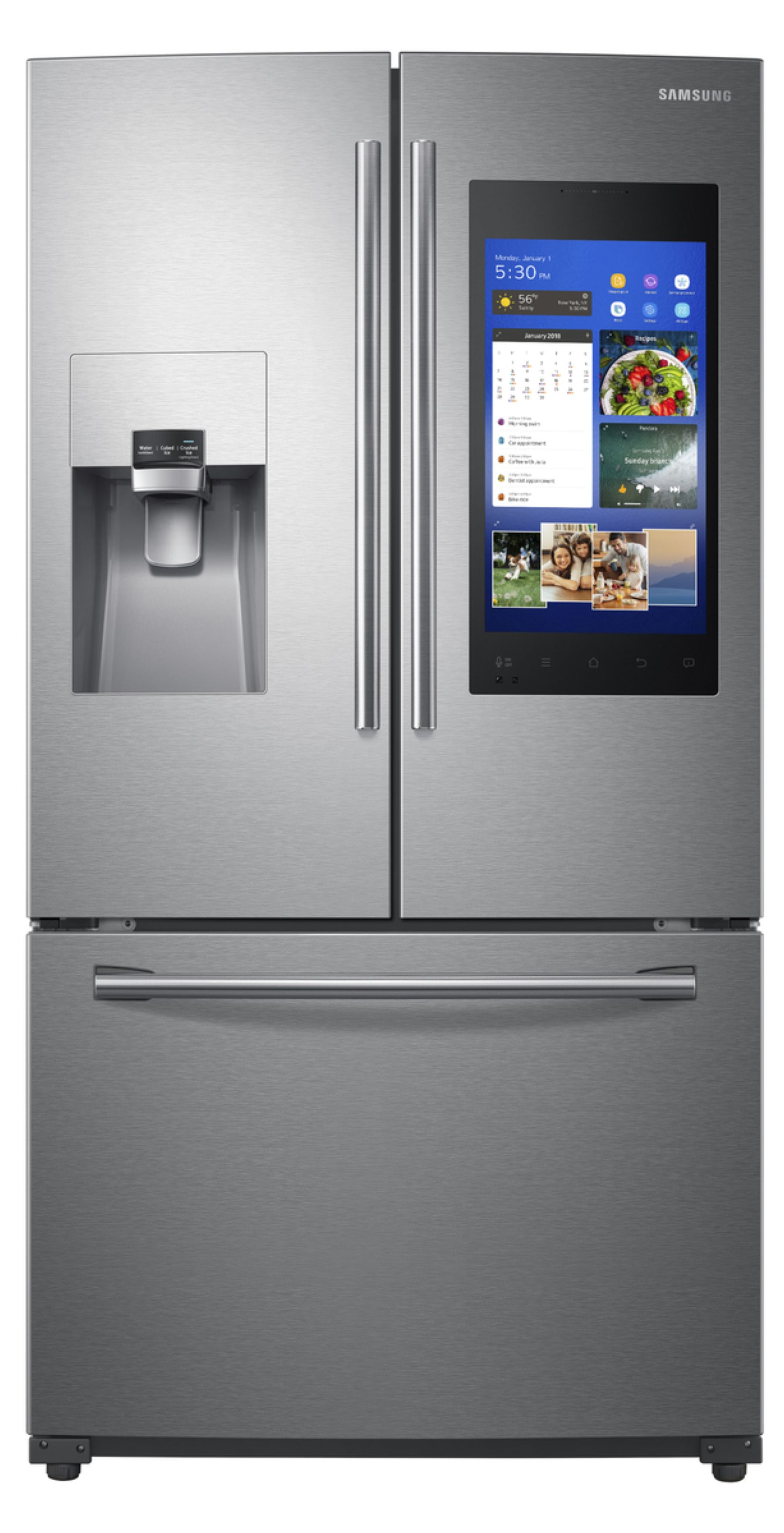 medium resolution of samsung rf265beaesr aa 24 cu ft 3 door french door refrigerator with family hub stainless steel