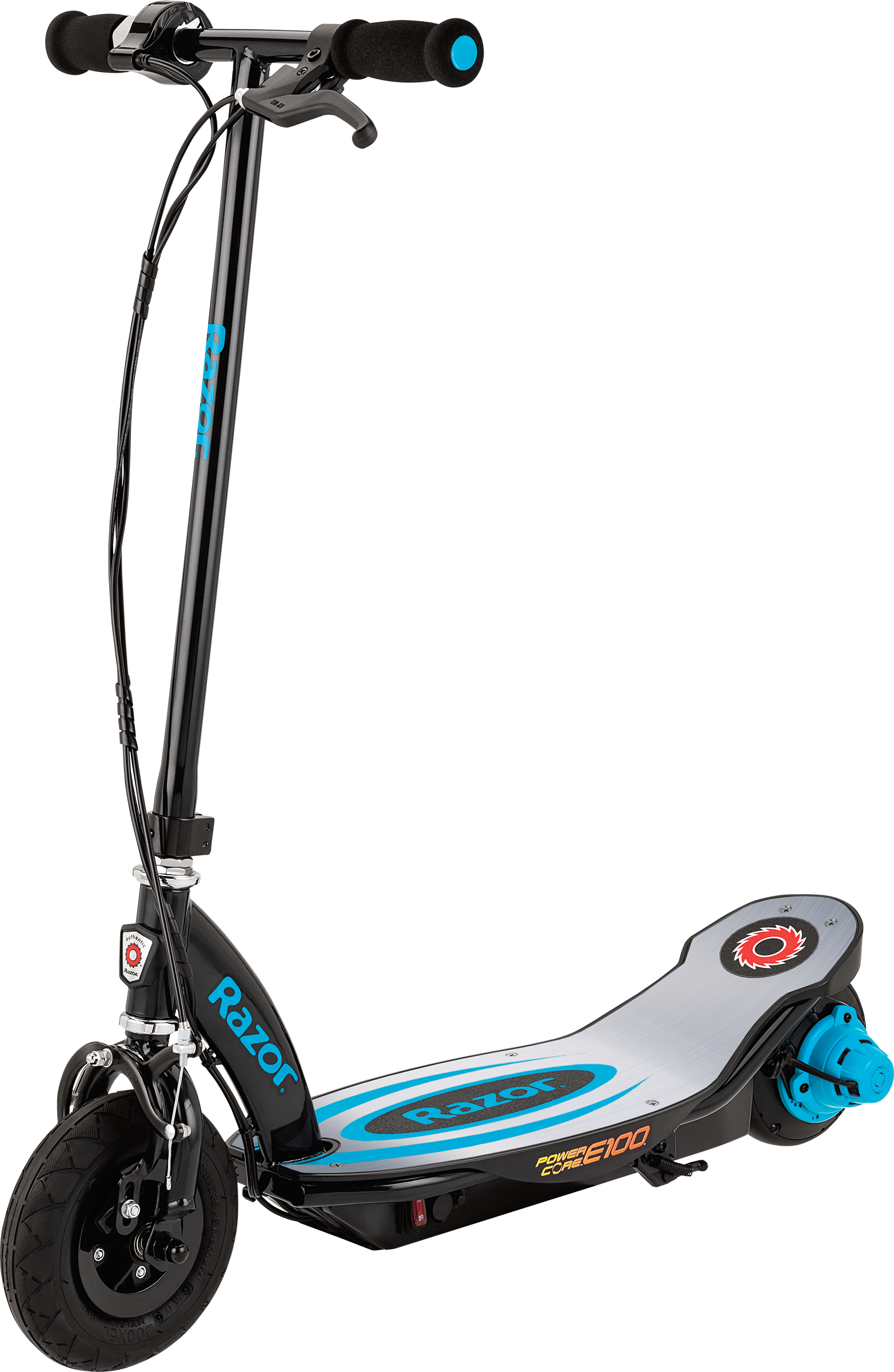 Razor Power Core E100 Electric Scooter - Aluminum Deck Blue