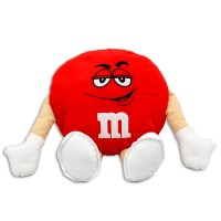 "M&M's 20"" Plush Red Pillow"