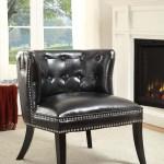 Upc 753793961743 Saphire Black Tufted Chair Upcitemdb Com