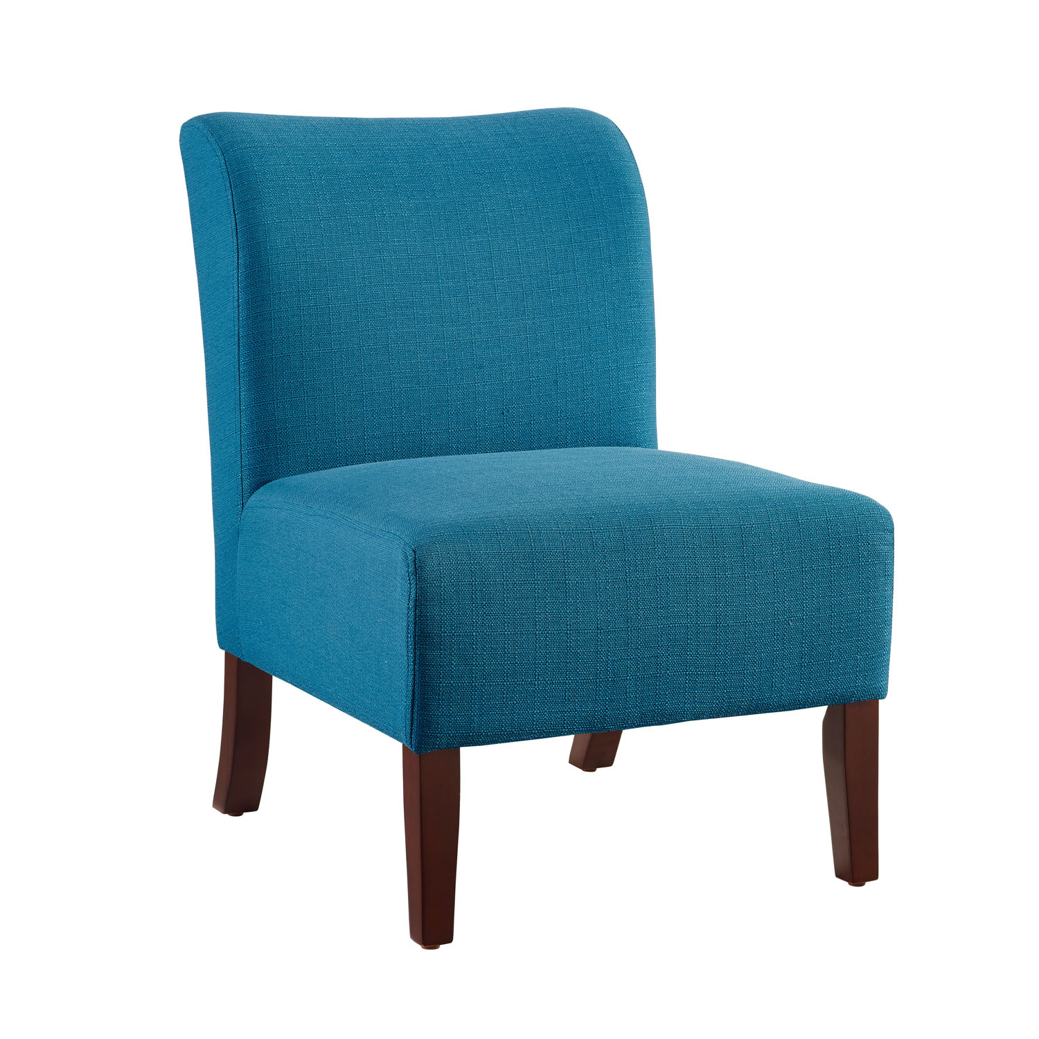 Blue Slipper Chair Linon Julie Curved Back Blue Slipper Chair