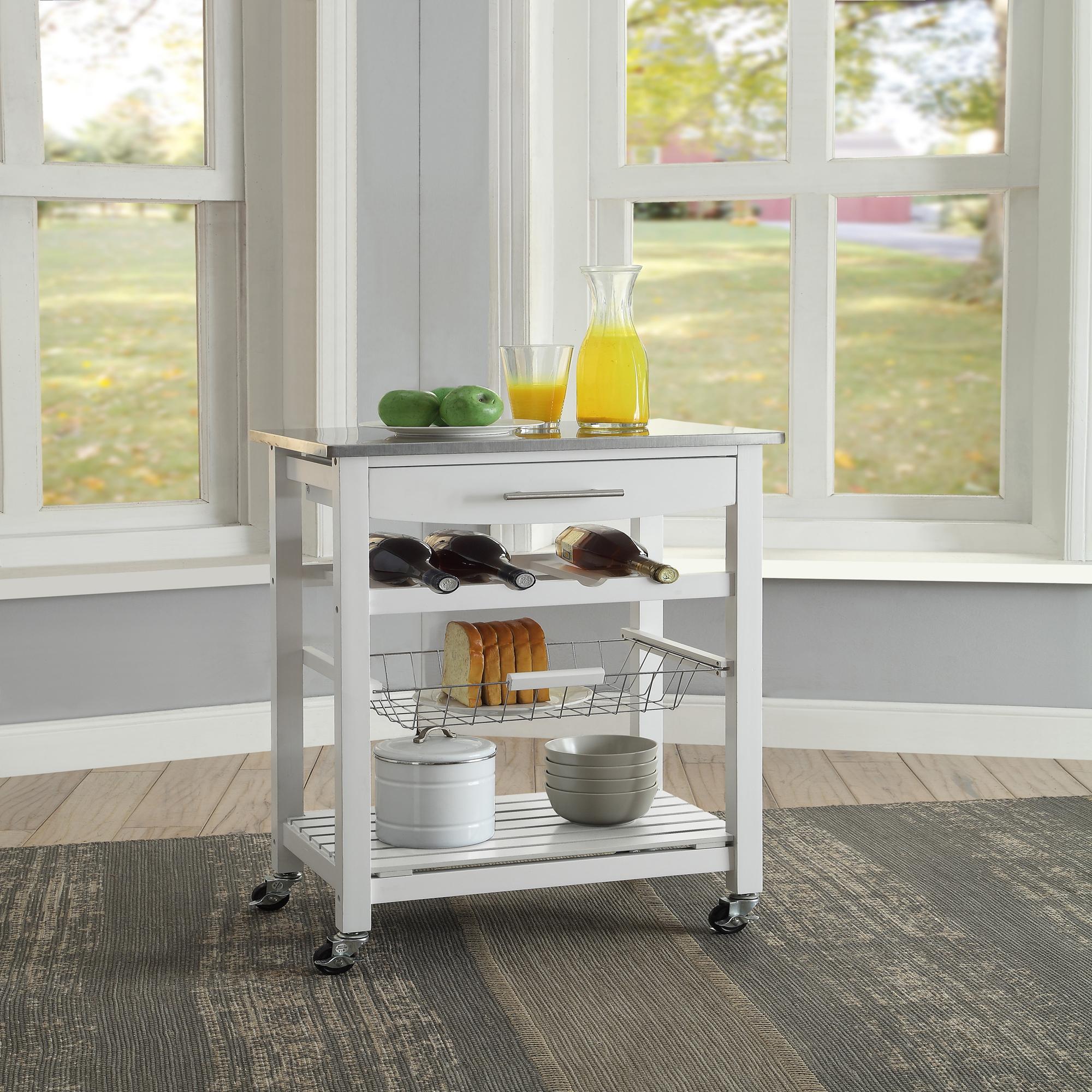 kitchen carts pinterest remodel ideas islands kmart linon clarke white cart