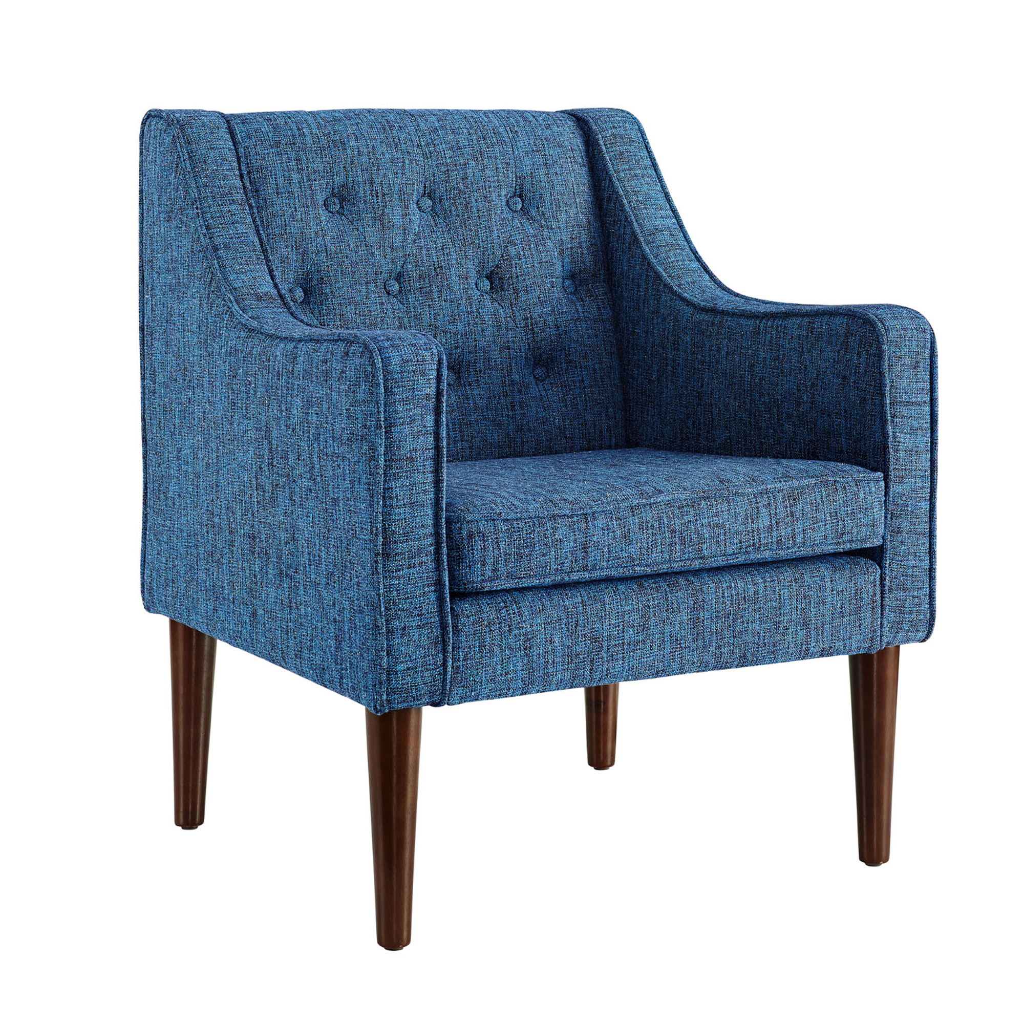 tufted blue chair vanity and linon noda dark back