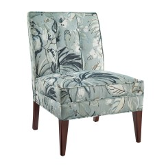 Bedroom Chairs Wood And Leather Chair Seating Kmart Linon Carmen Blue Floral Slipper