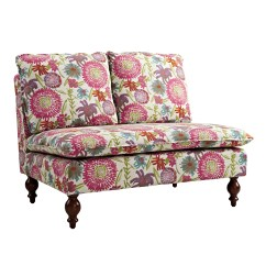 Sears Accent Chairs Mid Century Linon Lyla Floral Settee