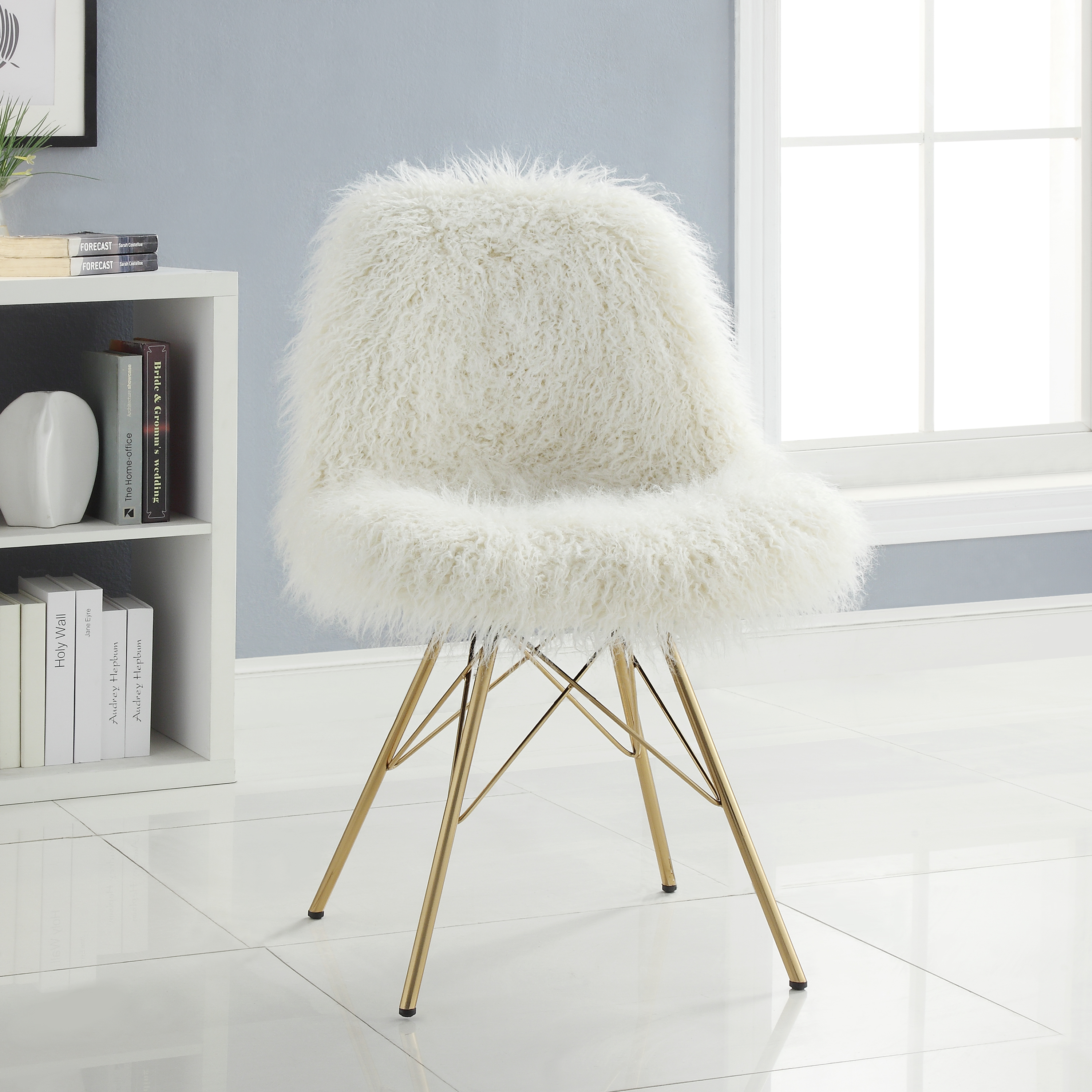 chairs for a bedroom chair two person seating kmart linon remy flokati with gold metal base