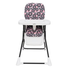 Baby High Chairs With Wheels Three In Spanish Evenflo Compact Fold Chair Penelope