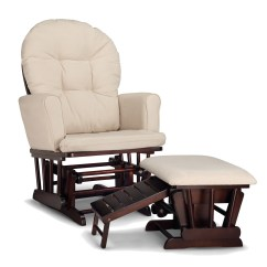 Glider Chair With Ottoman India Cover Rental In Philadelphia Graco Parker Semi Upholstered And Nursing Espresso Beige Cushions