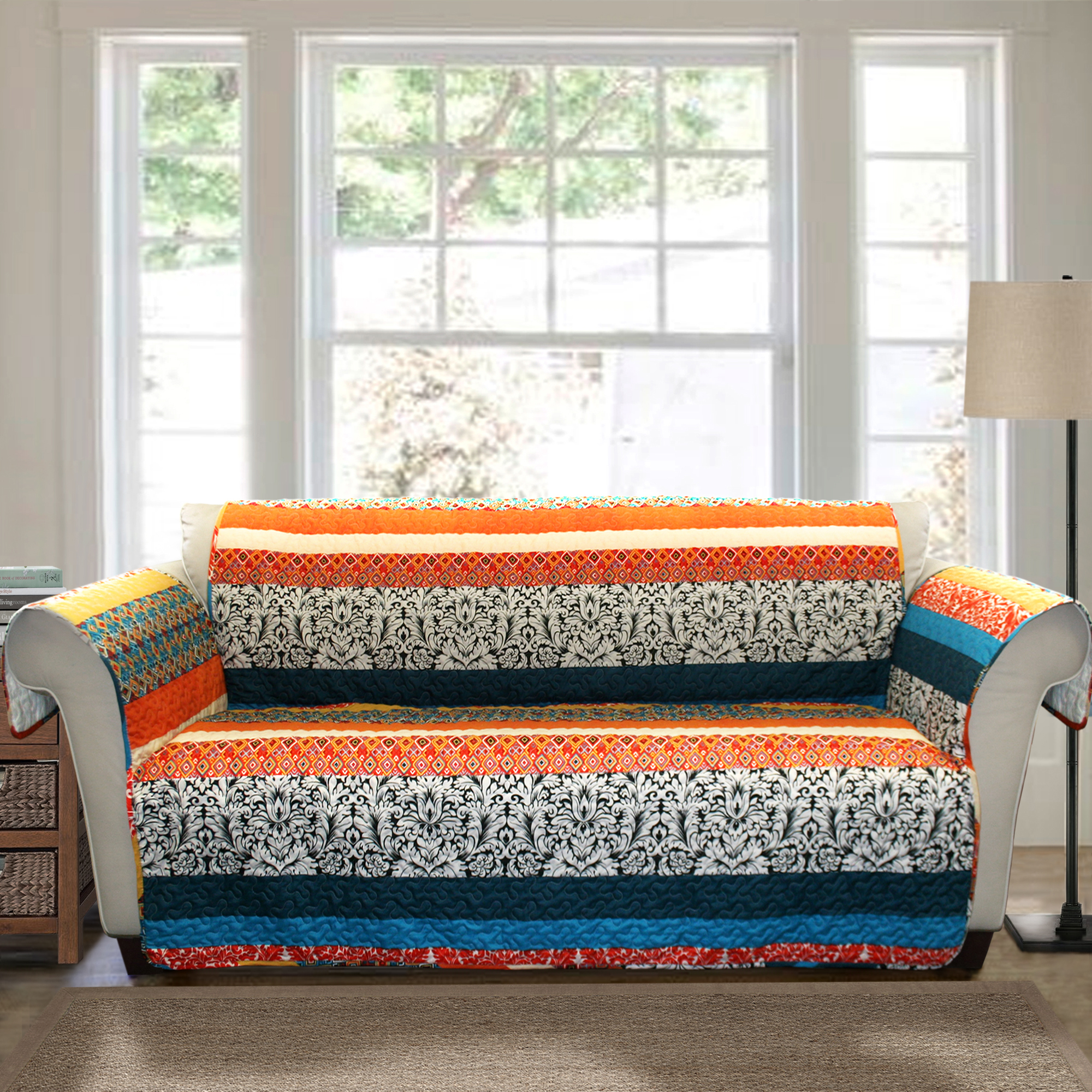 tangerine sofa sweet sf terminal forever new boho stripe furniture protector turquoise