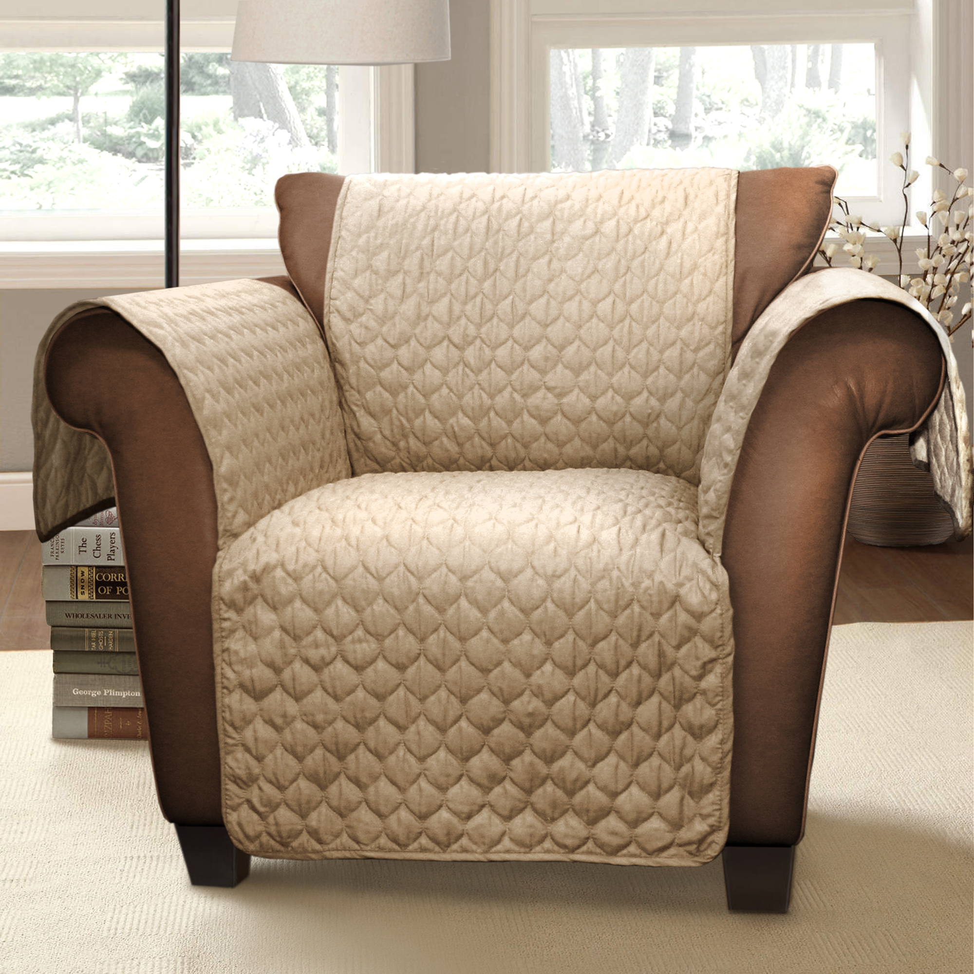 sears recliner chair covers wedding kidderminster forever new joyce furniture protector taupe armchair