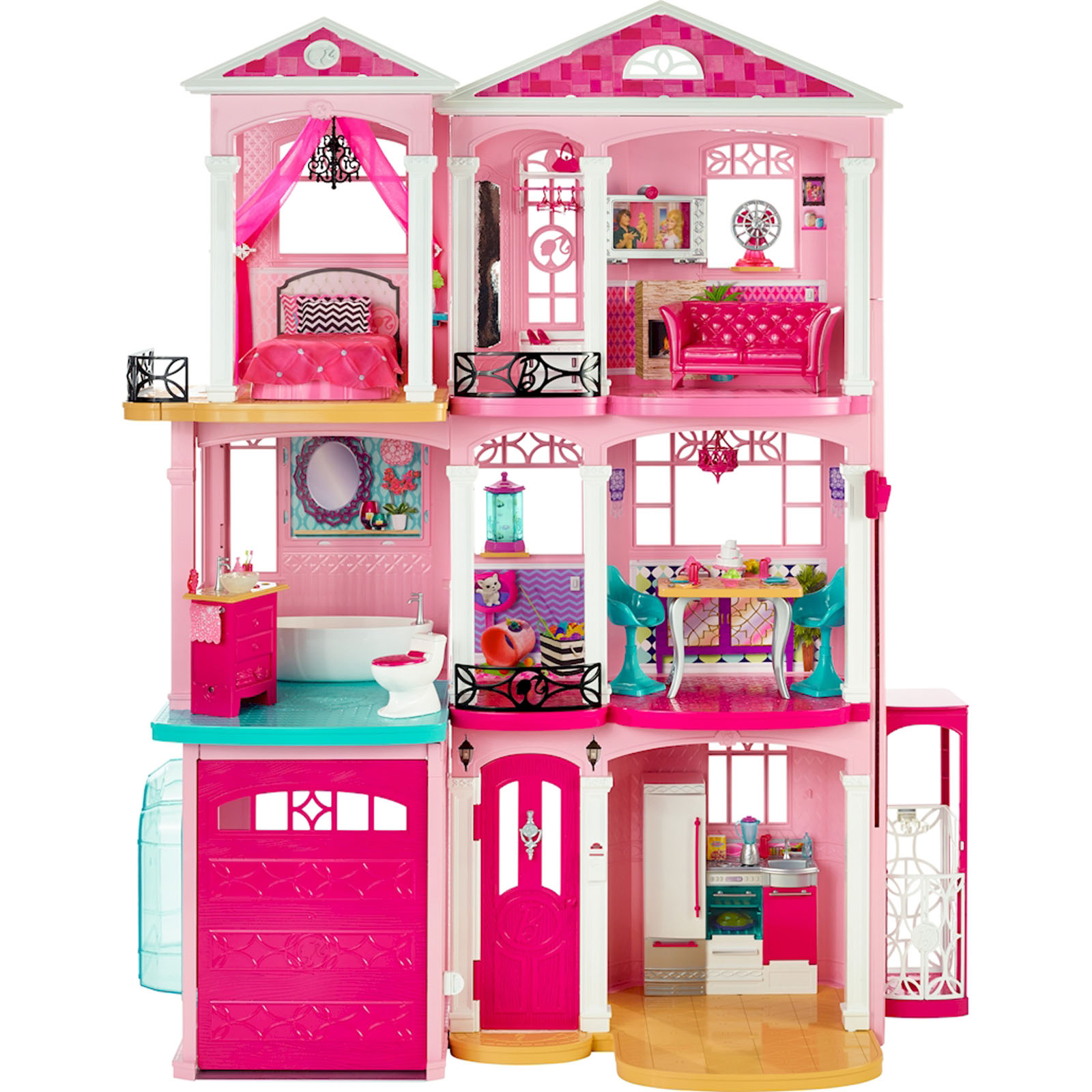 Barbie 3 Story Dreamhouse With Working Elevator