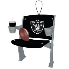 Oakland Raiders Chair Covers For Dining Room Chairs Uk Nfl Stadium Christmas Ornament