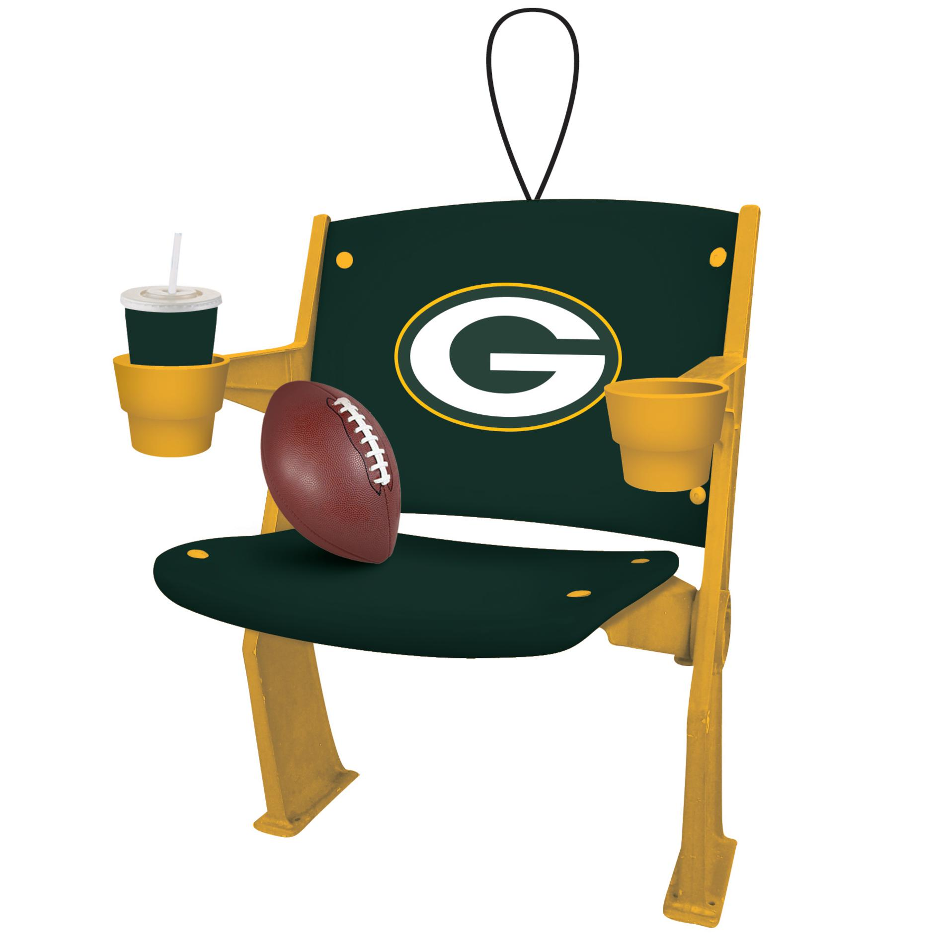 green bay packers chair antique folding rocking value nfl stadium christmas ornament