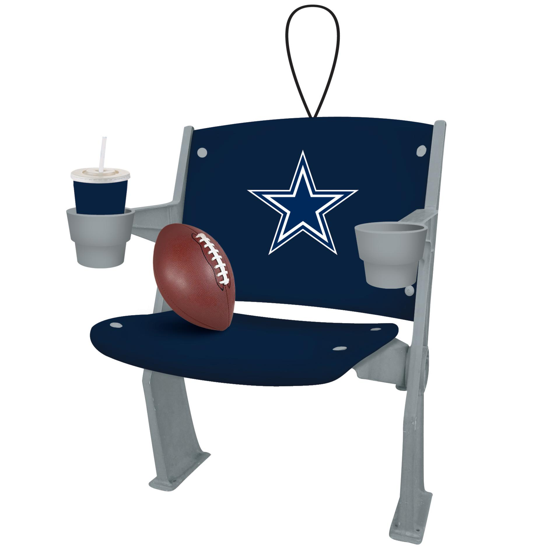Dallas Cowboy Chair Nfl Stadium Chair Christmas Ornament Dallas Cowboys