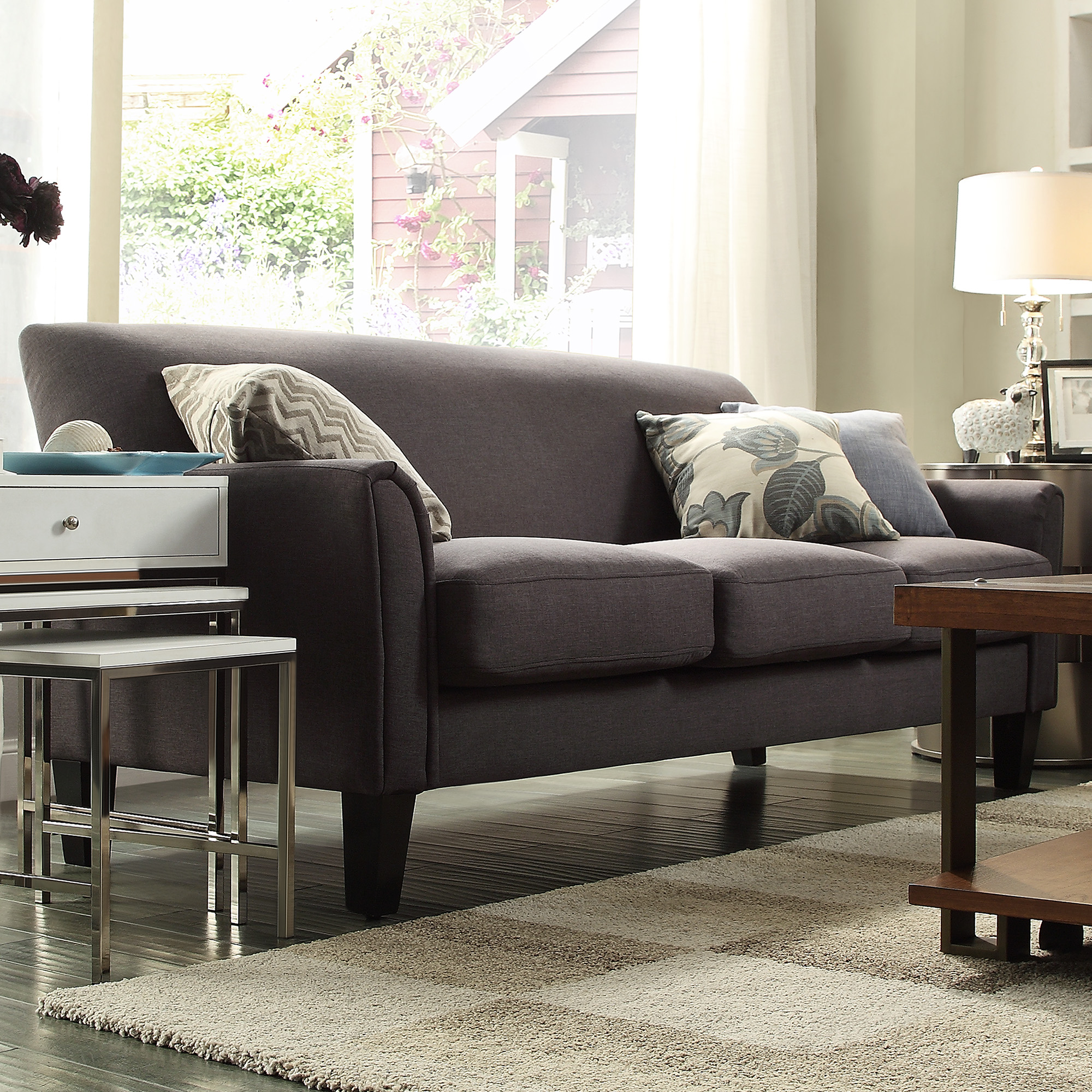 sears clearwater sofa sectional diamond park ave king bed oxford creek hill in dark grey shop your way