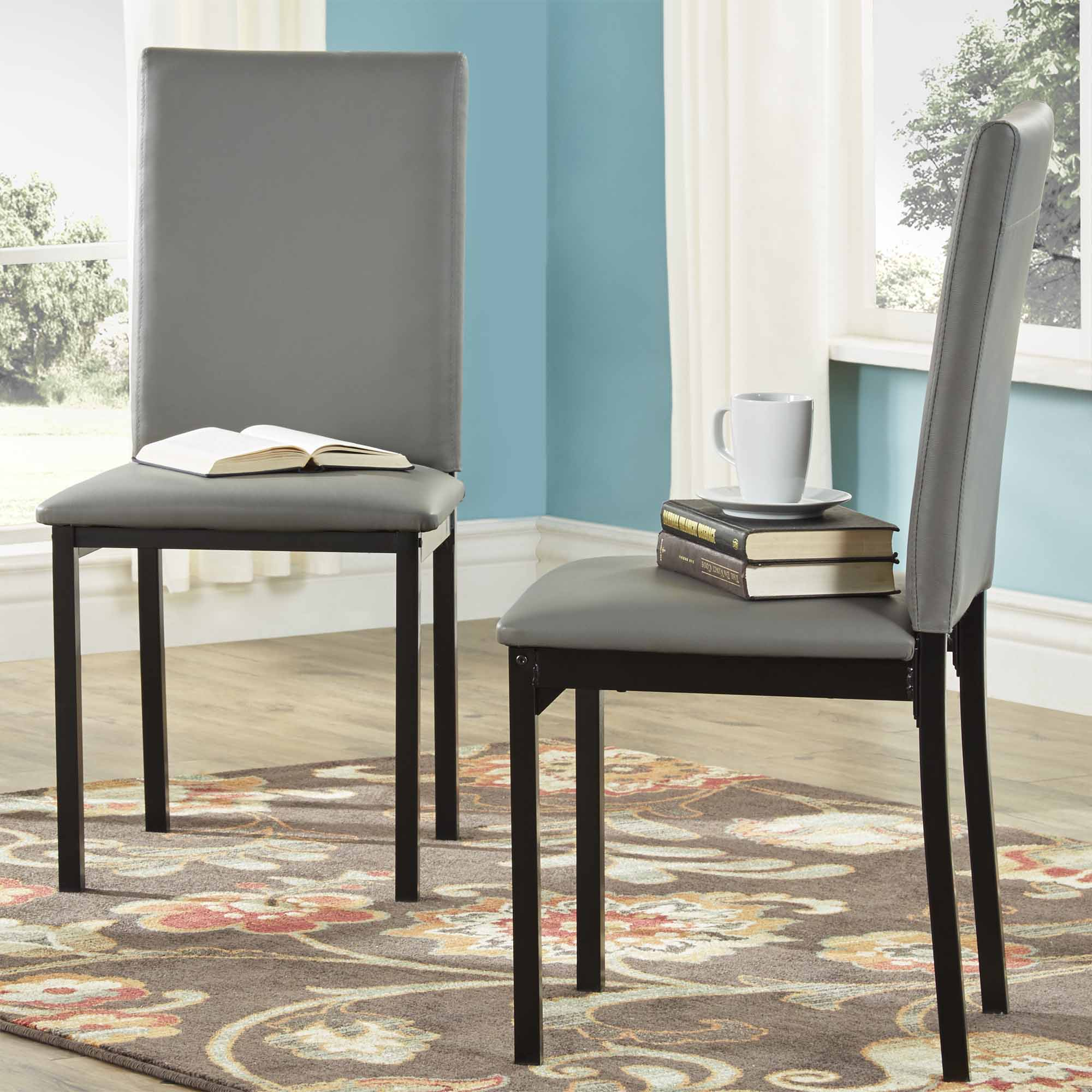 Upholstered Kitchen Chairs Oxford Creek Mio Metal Upholstered Dining Chair In Grey