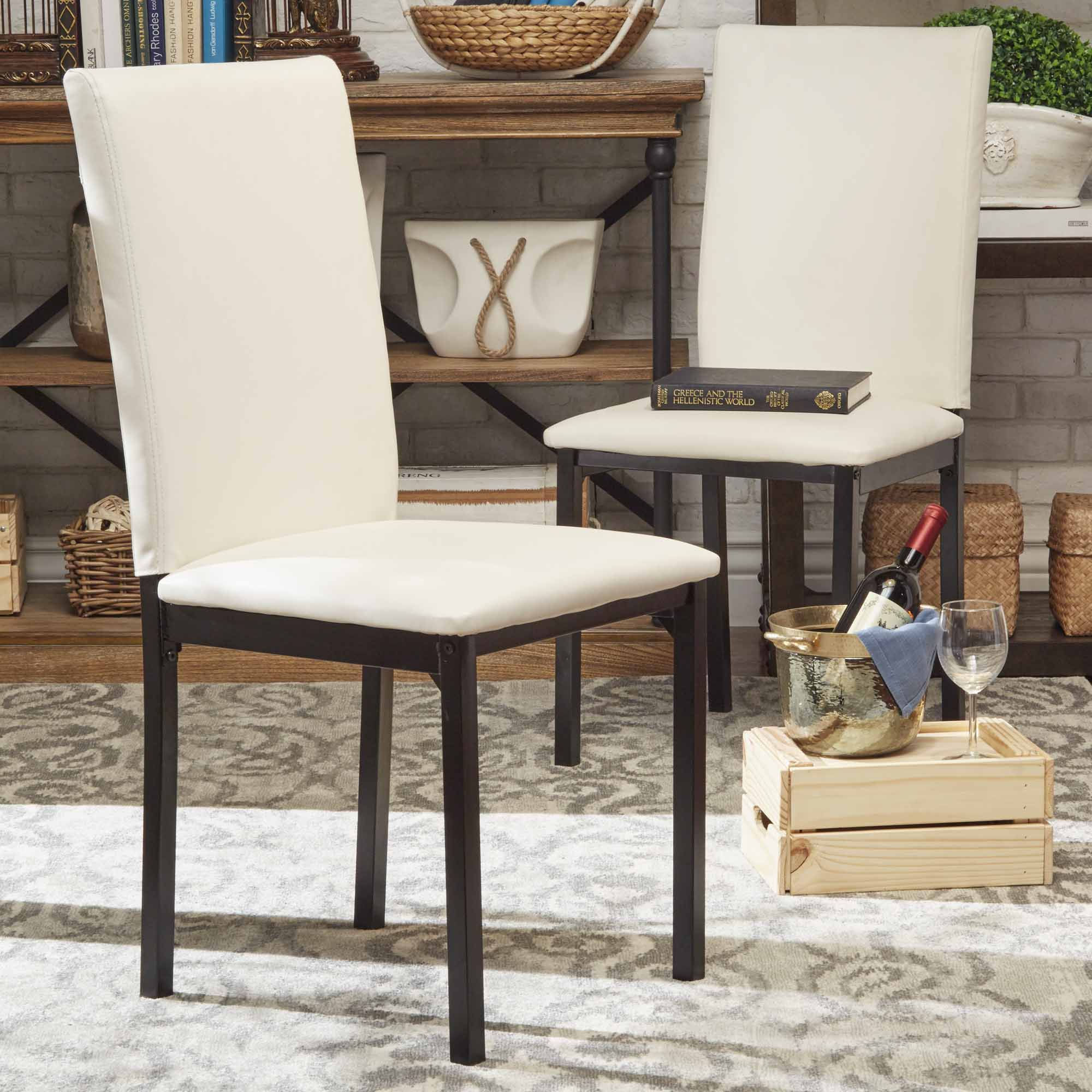 Upholstered Kitchen Chairs Oxford Creek Mio Metal Upholstered Dining Chair In White