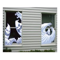 Totally Ghoul Halloween Ghost Window Covers Decoration ...