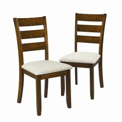 Kohls Dining Chairs Black Fabric Essential Home Set Of 2 Glenview