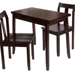Kmart Table And Chairs Review Crate Barrel Dining Chair Bay Shore Collection Expandable Espresso