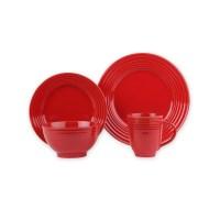 Essential Home 16-Piece Solid Color Dinnerware Set - Round