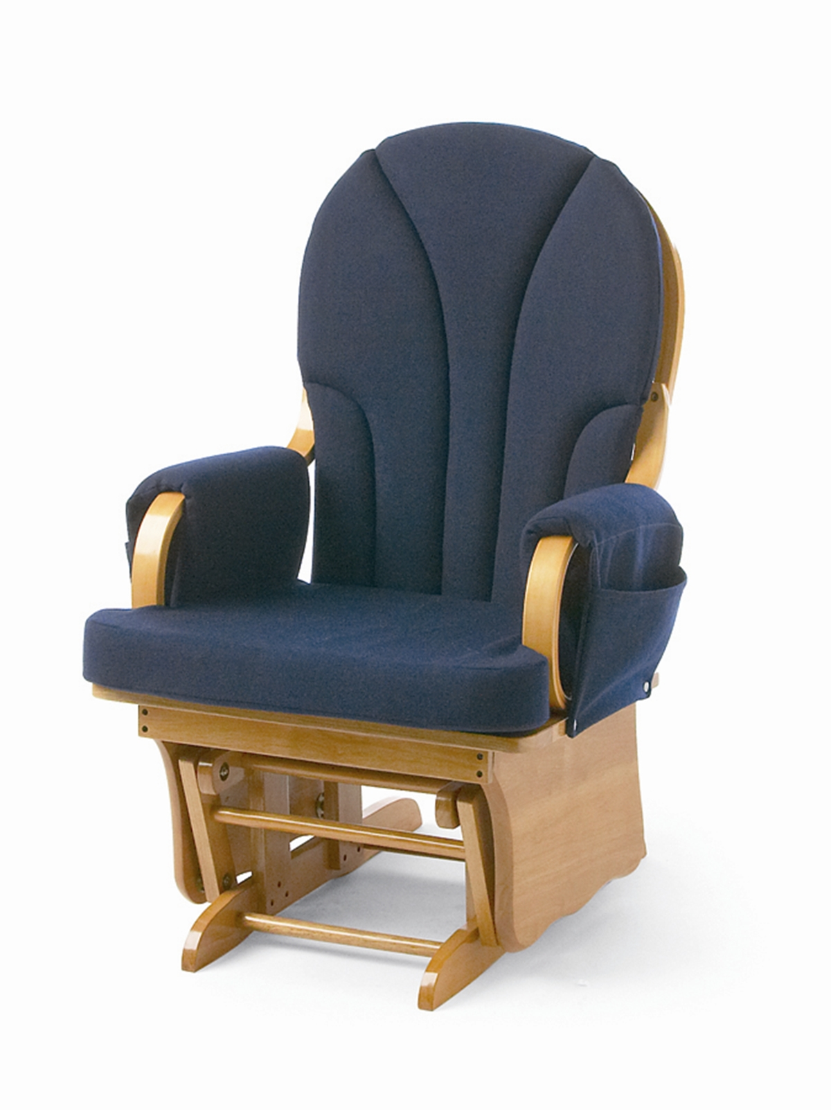 Foundations Lullaby Adult Glider Rocker - Blue