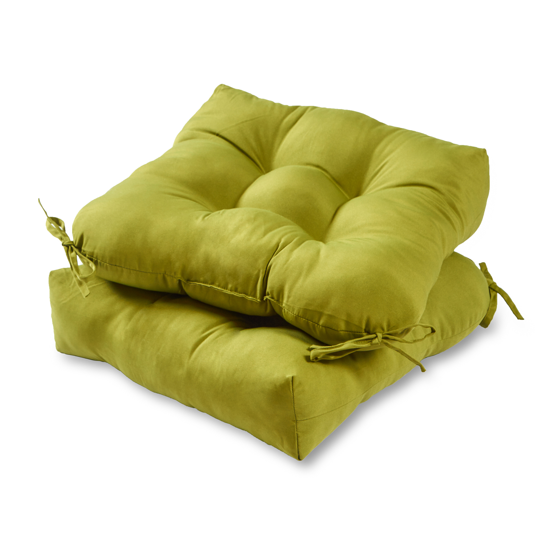 green chair cushions covers linen greendale home fashions set of two 20 quot outdoor