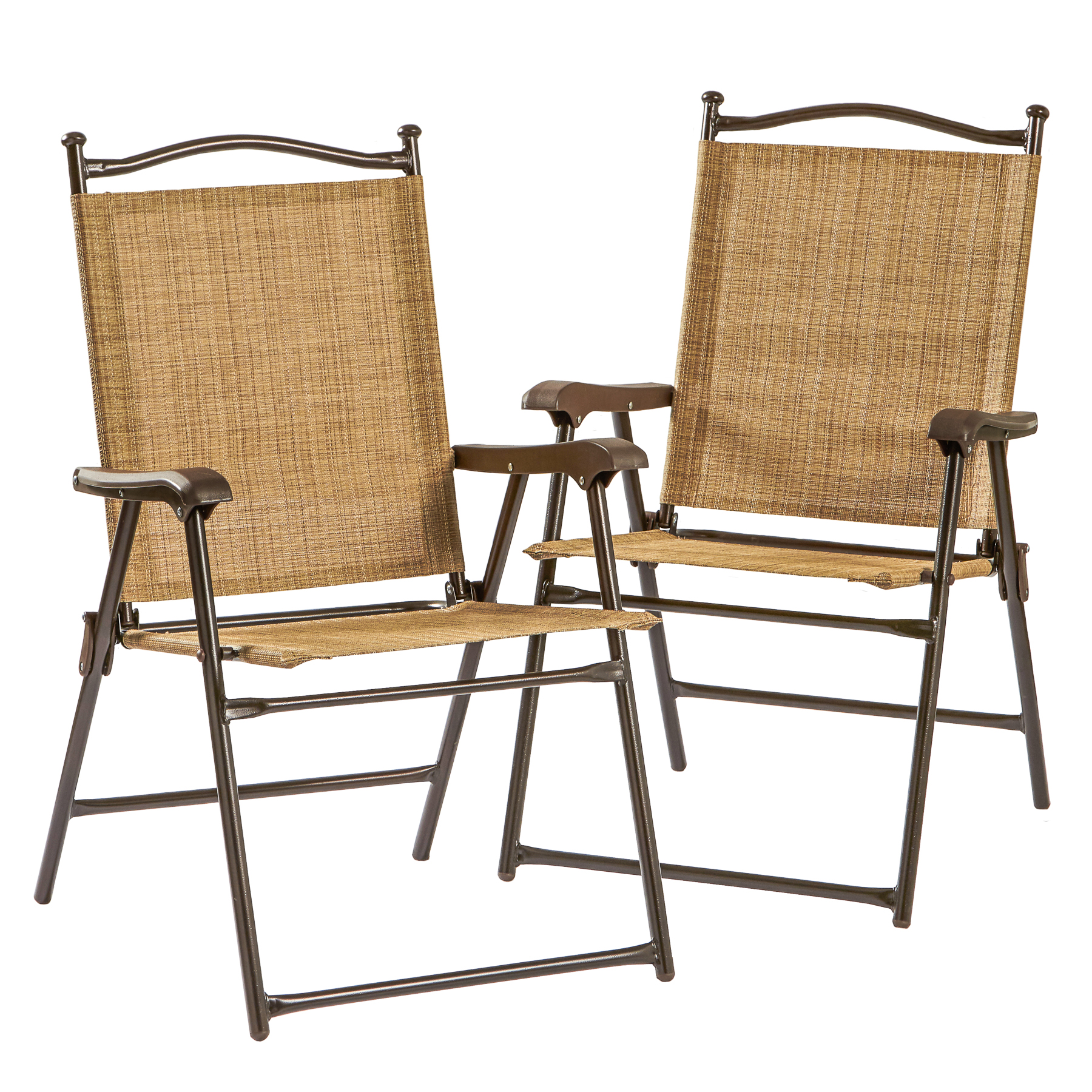 Greendale Home Fashions Sling Back Outdoor Chairs Set of