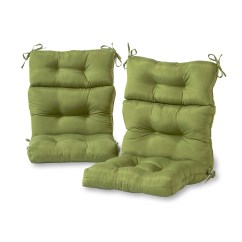High Backed Chair Cushions Helinox Ground Greendale Home Fashions Set Of Two Outdoor Back