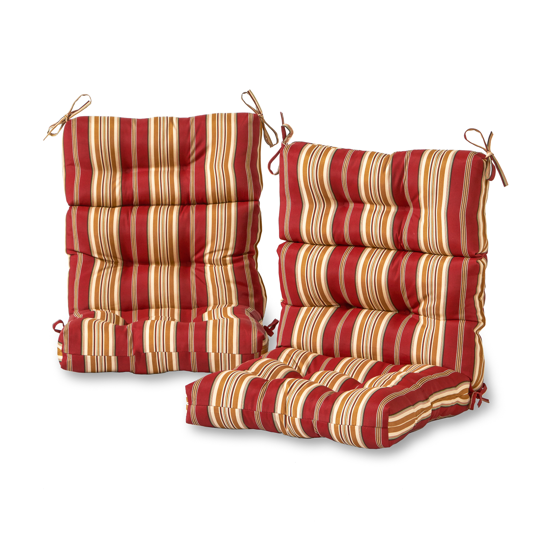Greendale Home Fashions Set Of Two, Outdoor High Back - Outdoor Chair Cushions Clearance