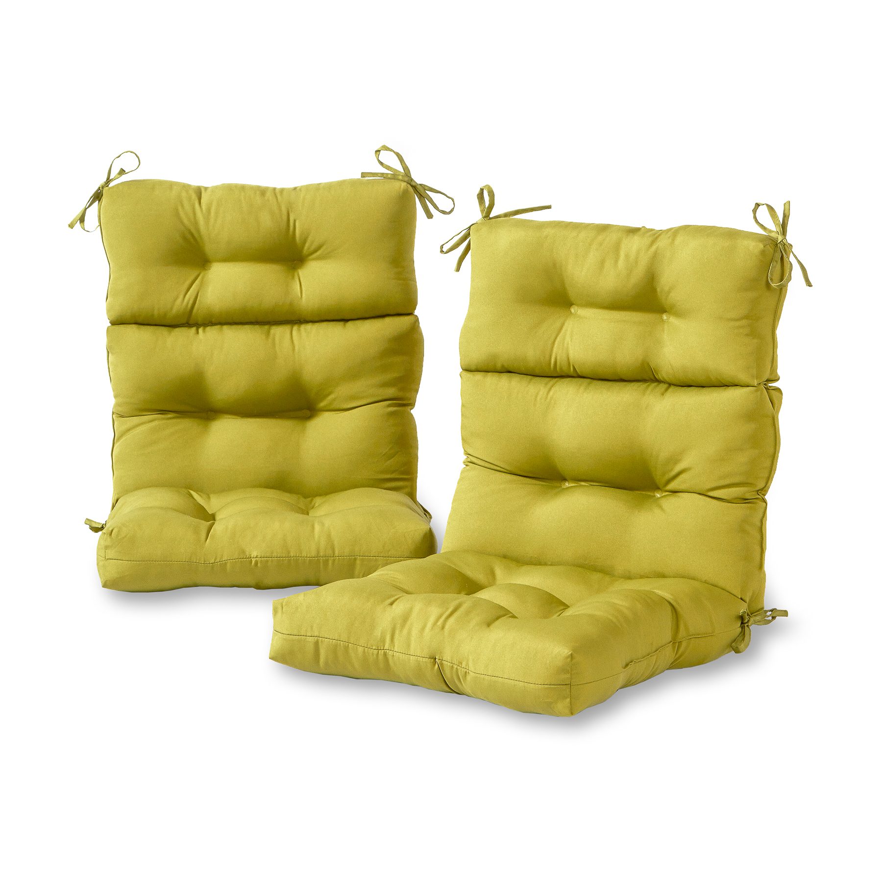 green chair cushions dorm chairs for guys greendale home fashions set of two outdoor high back
