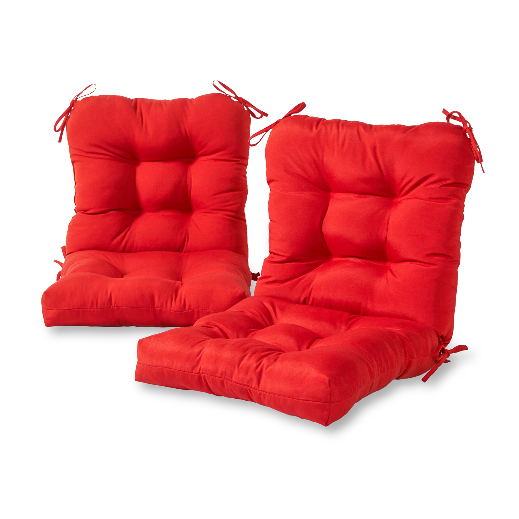 red outdoor chair pillows fold up lawn chairs greendale home fashions set of two seat back