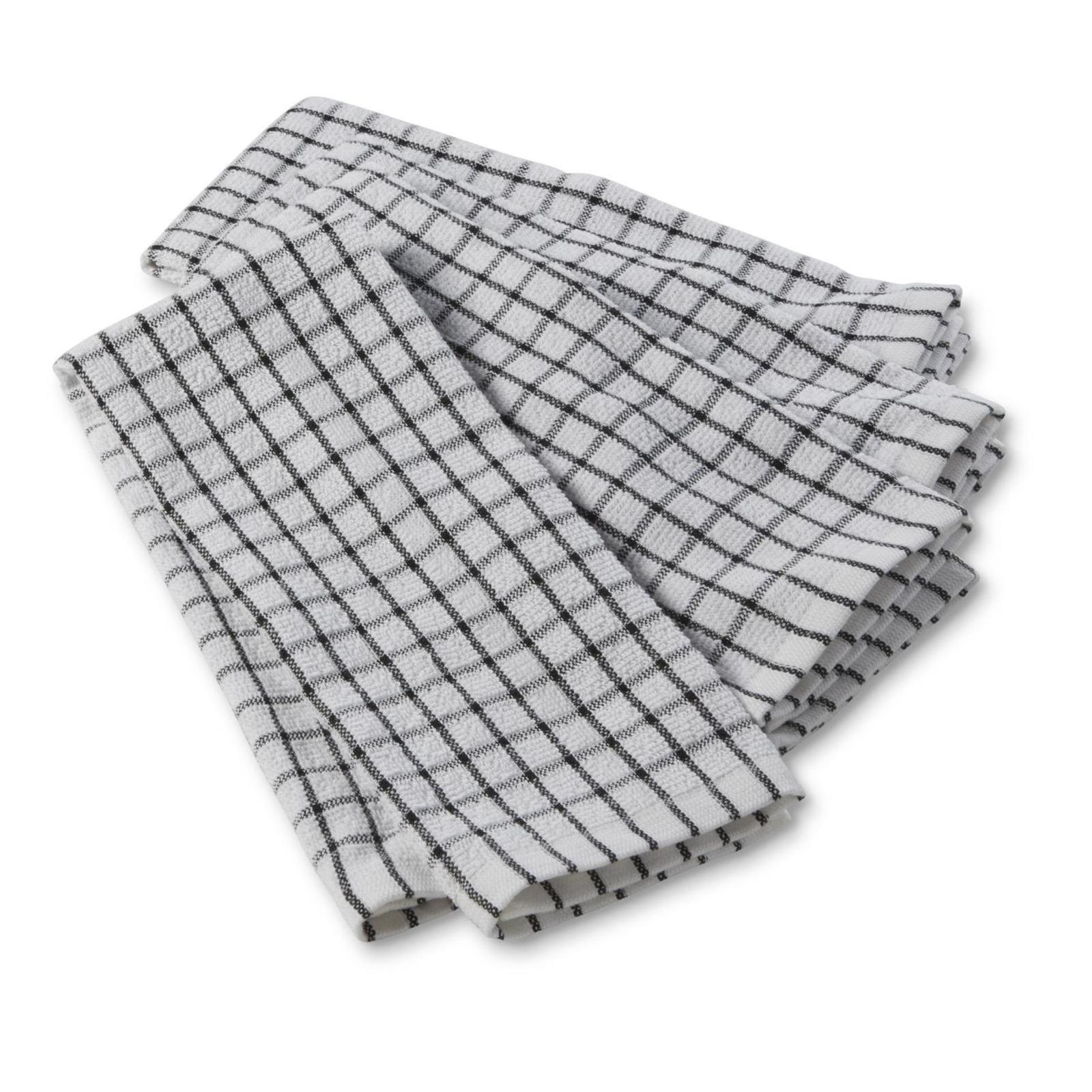 gray kitchen towels curtains for sale dish sears 4 pack windowpane