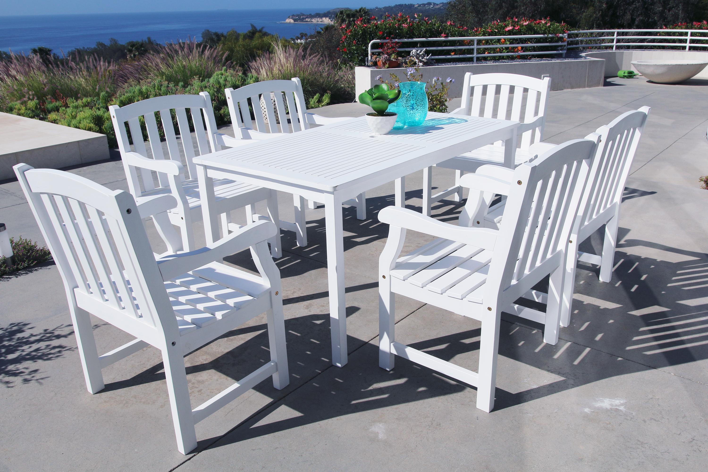 Vifah Bradley Acacia Rectangular Extension Table