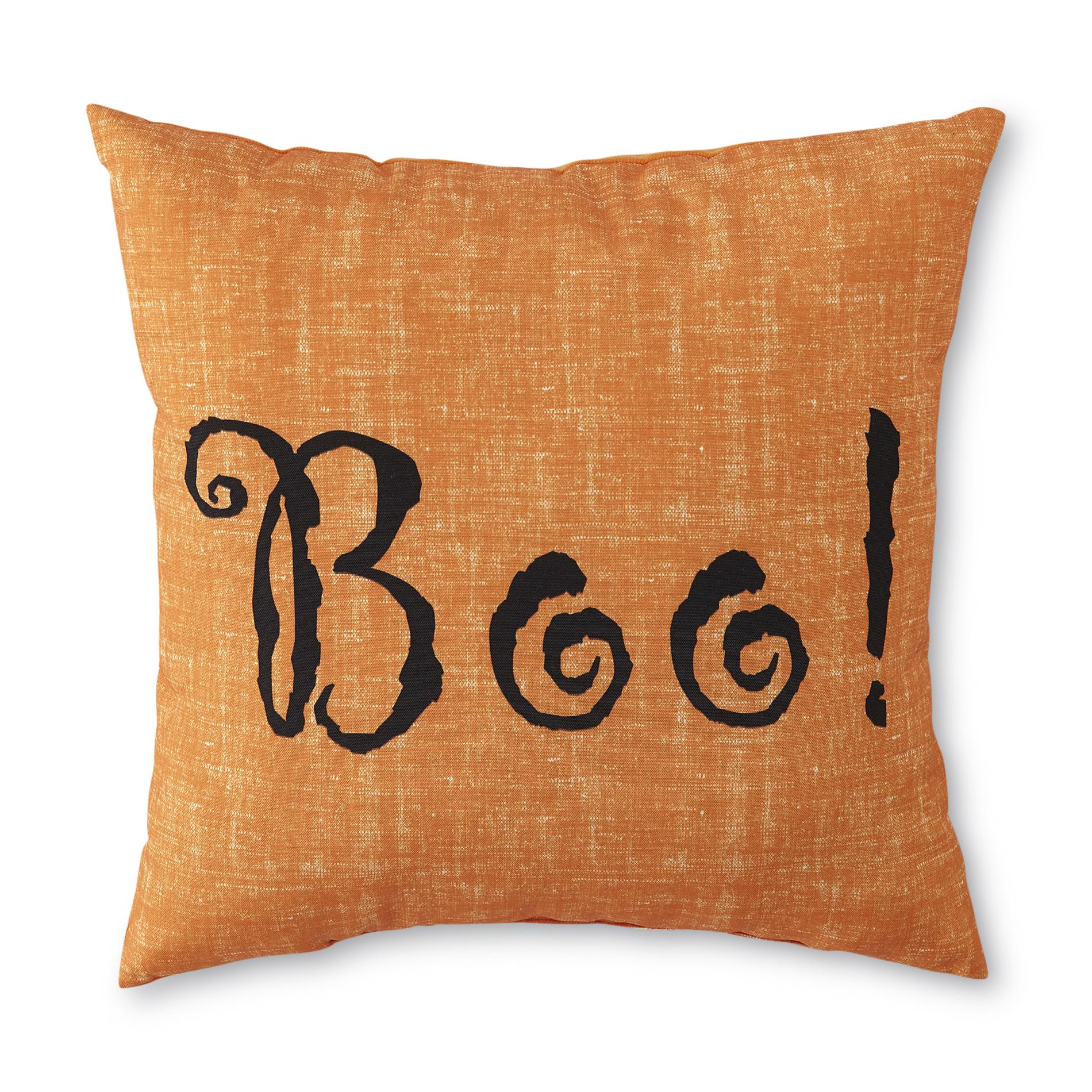 Colormate Decorative Halloween Pillow  Boo