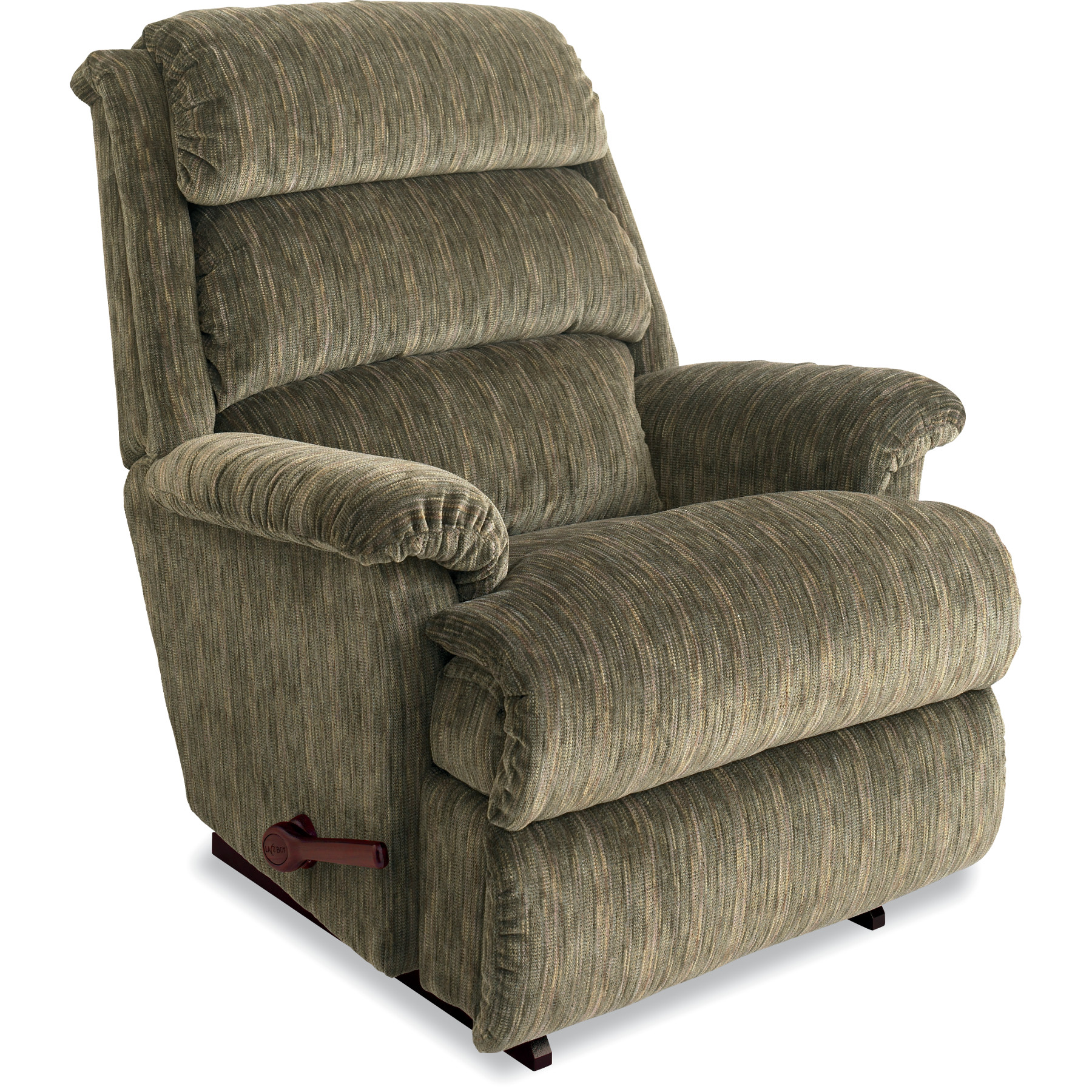 lazy boy chairs black distressed leather dining la z aston reclina rocker green