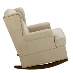 Dorel Rocking Chair High Back Covers Ireland Harlow Wingback Rocker With Nailheads Multiple Colors Home Furnishings 3