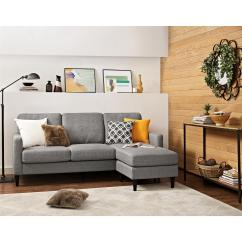 Sears Living Room Sectionals Wood Wall Units For Sectional Sofas Couches Sleeper Dorel Home Furnishings Kaci Reversible In Gray