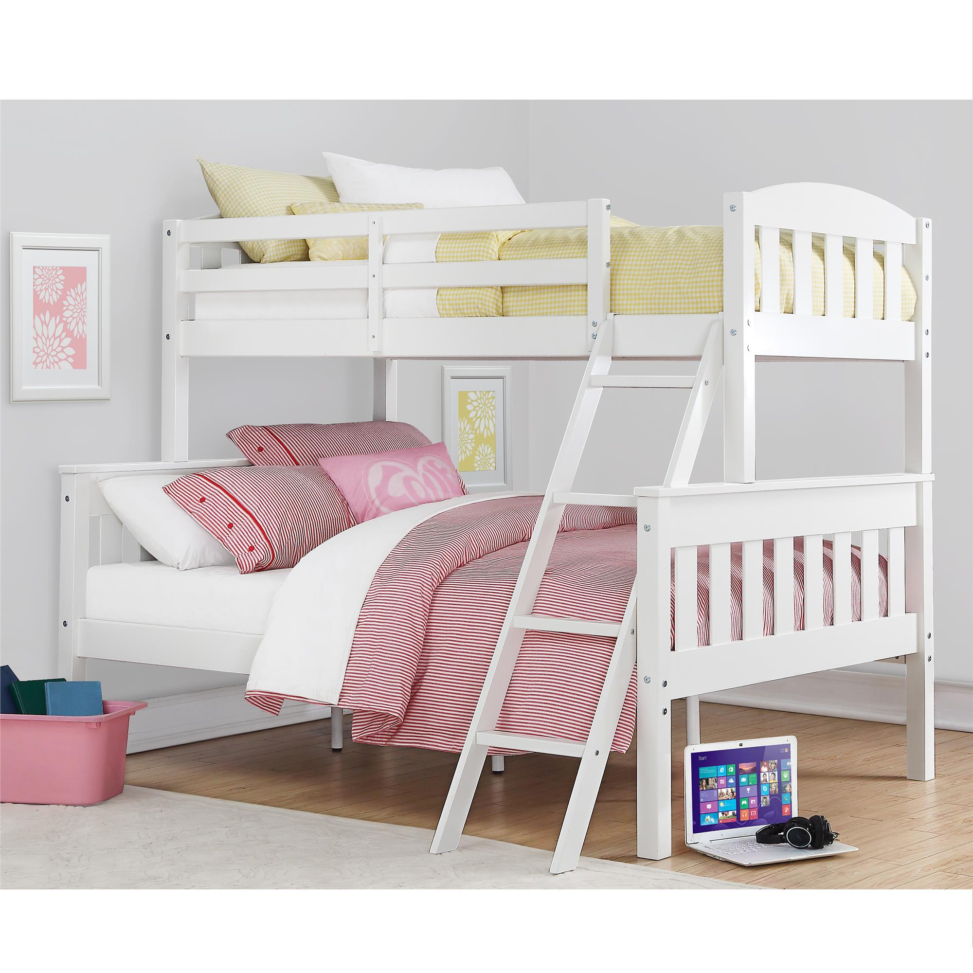 Dorel Home Furnishings Airlie White Twin Over Full Bunk Bed