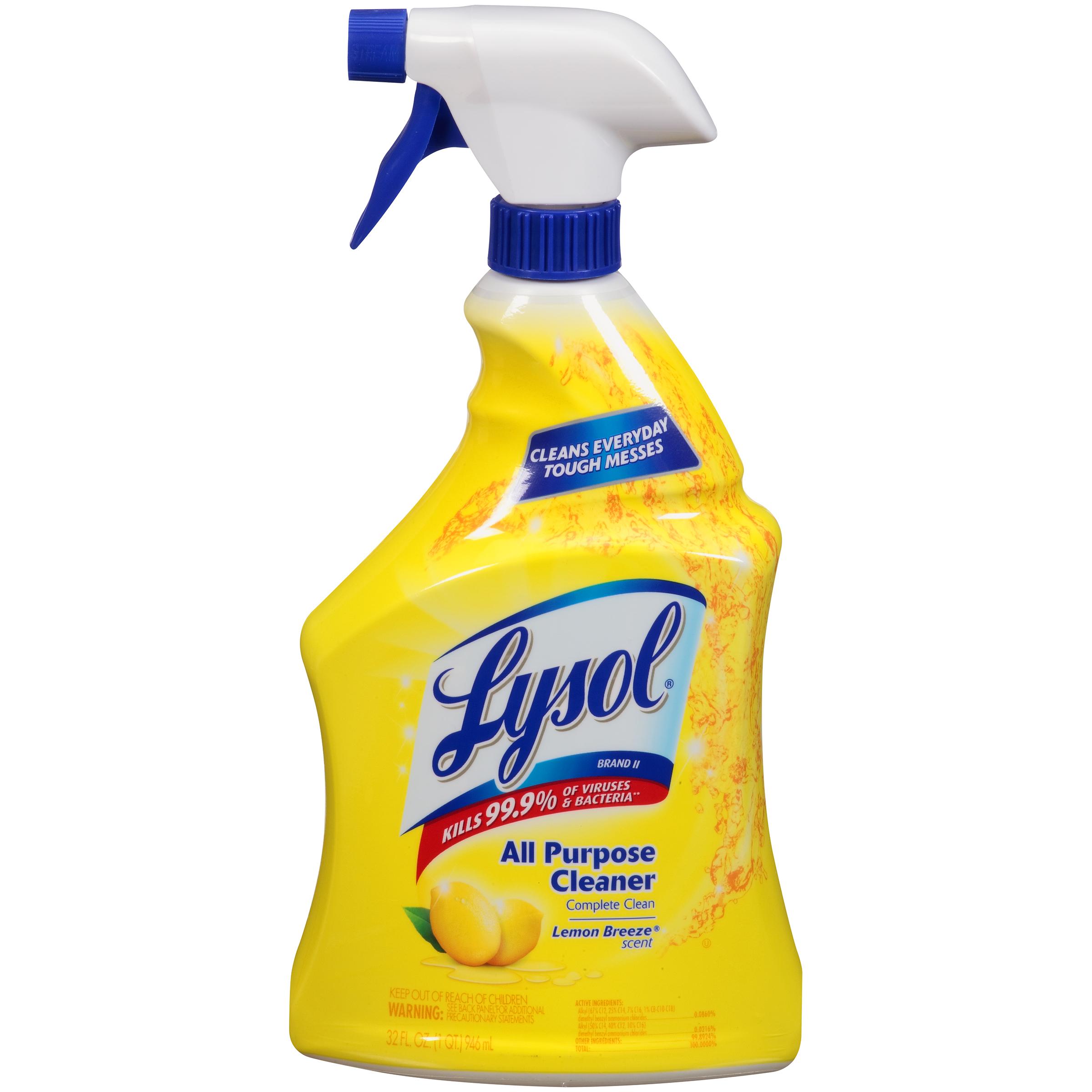 lysol antibacterial kitchen cleaner aid pasta maker all purpose disinfectant lemon breeze 32