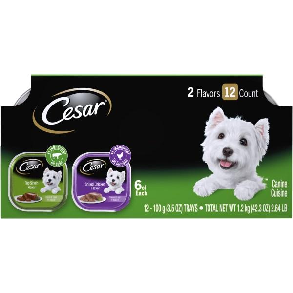 Cesar Canine Cuisine Variety Pack 12 - 3.5 Oz 100