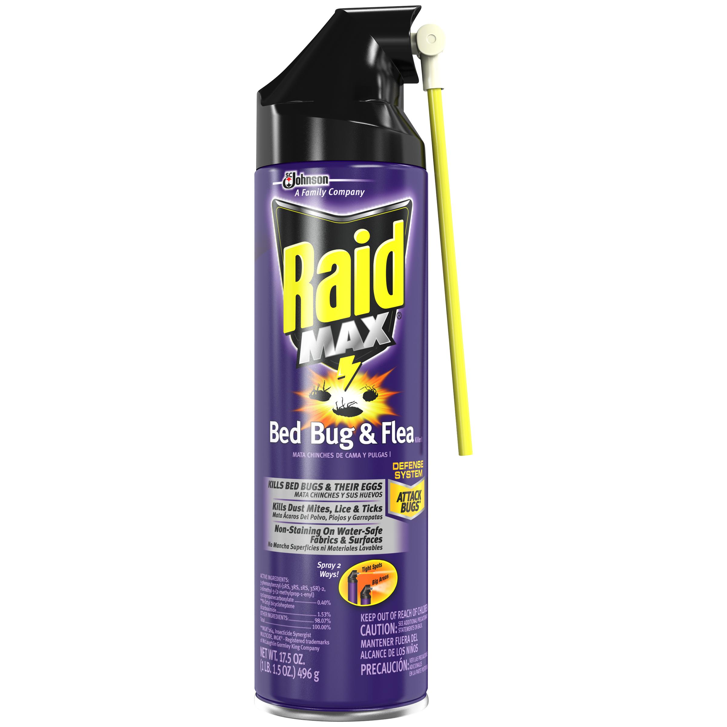 Raid Bed Bug Flea Killer Insecticide 17 5 Oz Aerosol Can