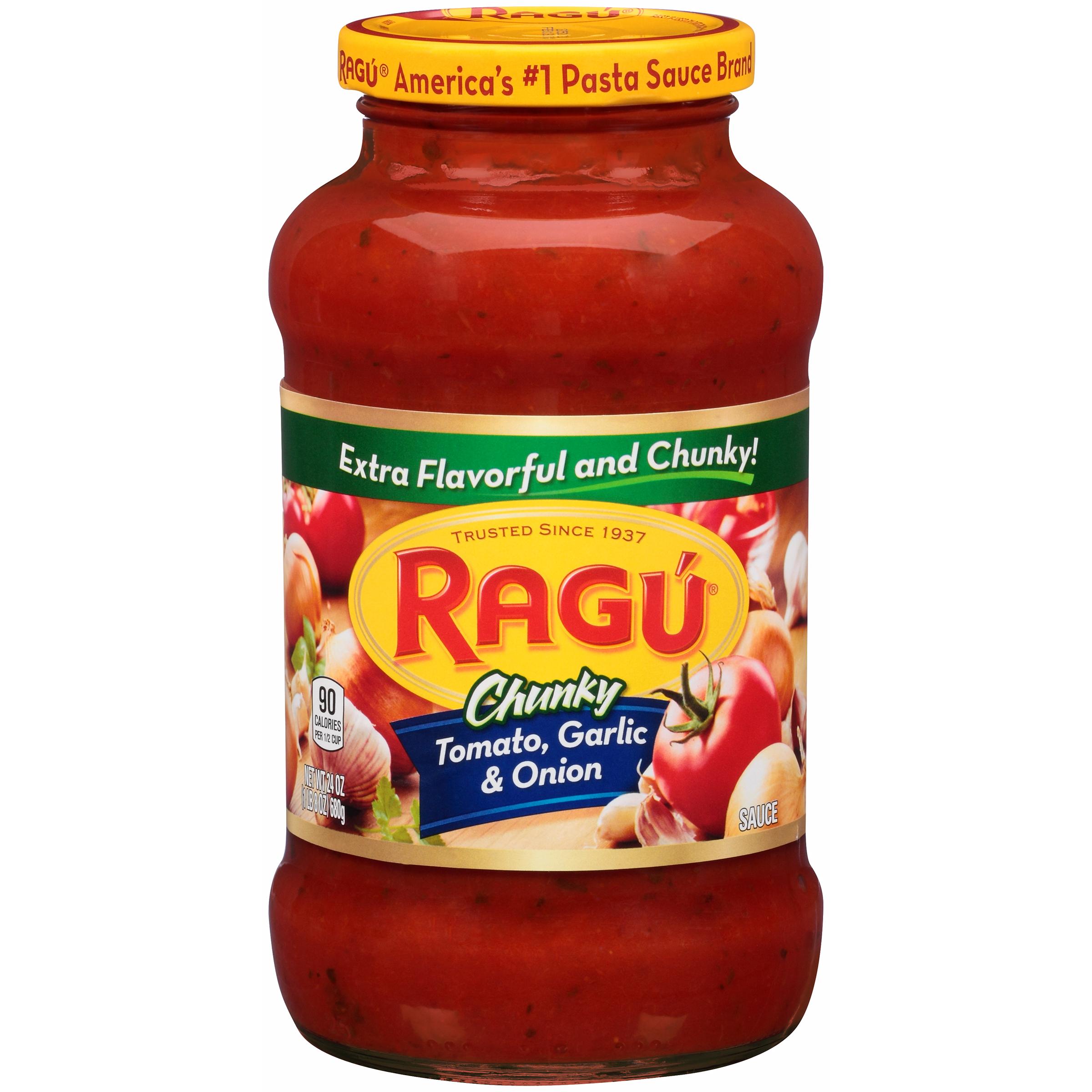 Ragu Chunky Pasta Sauce Tomato Garlic Onion 26 oz 1