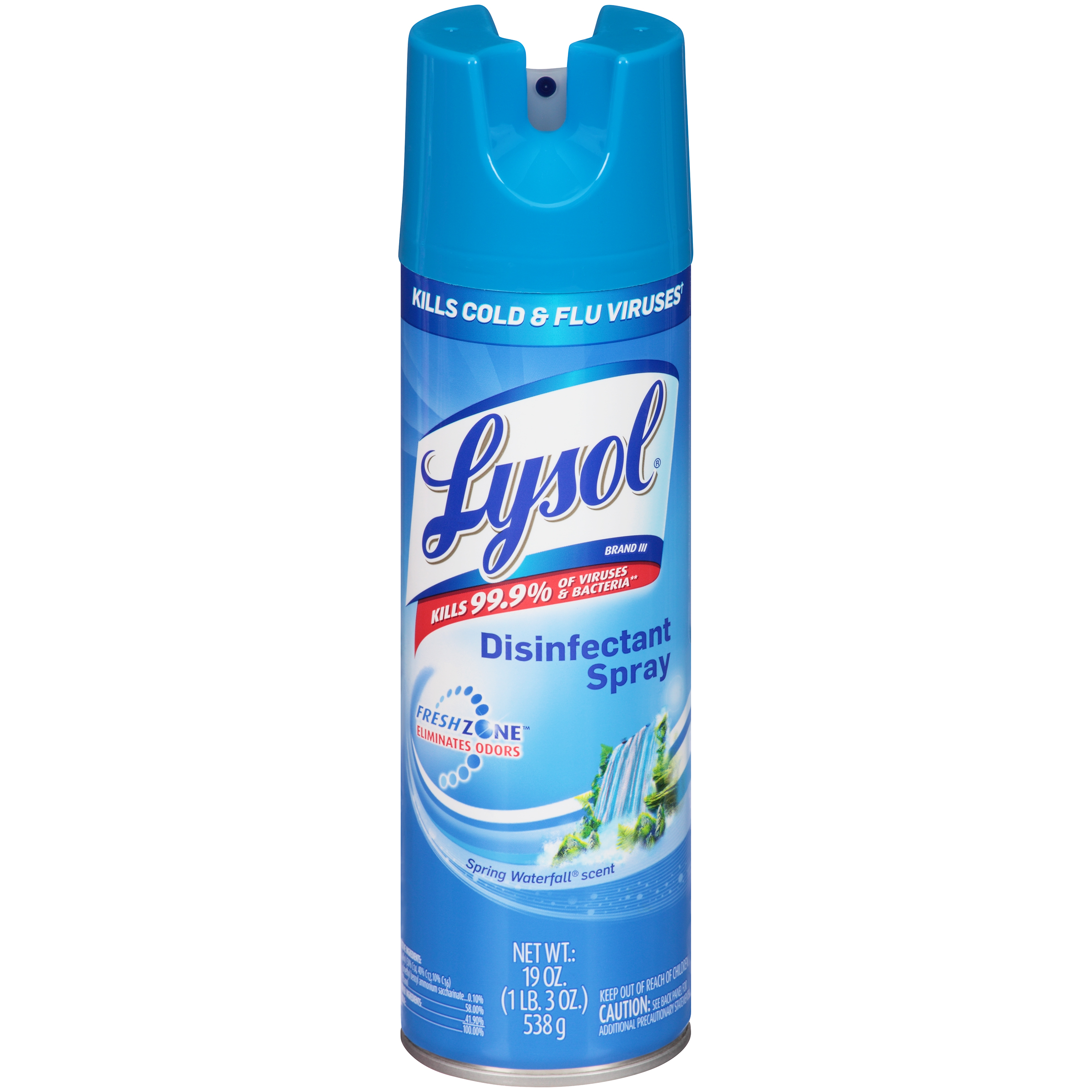 Lysol Disinfectant Spray Spring Waterfall Scent 19 Oz 1